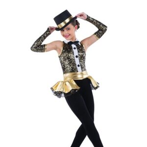 21887  Showbiz Paillette Sequin Jazz Performance Dance Unitard