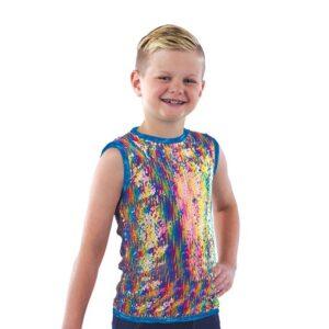 21893  Friend Medley Rainbow Sequin Boys Tank A