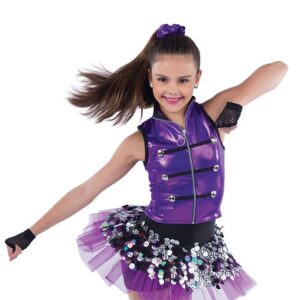 21900  Cant Dance Holographic Sequin Hip Hop Performance Dance Costume A