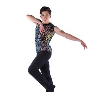 21906  Thats Life Guys Iridescent Sequin Swirl Dance Shirt