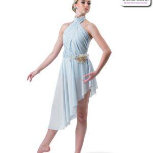 22001  Glitter Mesh Asymmetrical Lyrical Contemporary Dance Dress