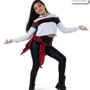 22003  French Terry Hooded Hip Hop Performance Costume Red