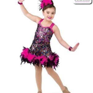 22004  Glitz Sequin Kids Jazz Dance Dress