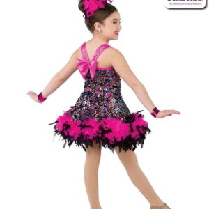 22004  Glitz Sequin Kids Jazz Dance Dress Rear
