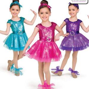 22009  Elite Sequin Kids Tap Dance Costume