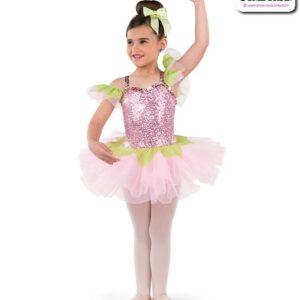 22012  Sequin Spandex Kids Performance Short Ballet Tutu