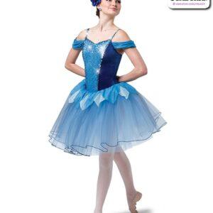 22013  Sequin Spandex Velvet Romantic Ballet Tutu