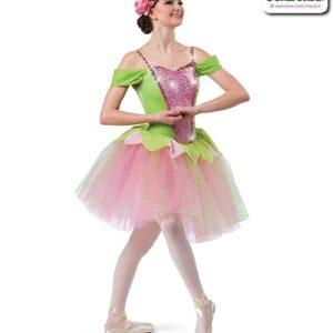 22013  Sequin Spandex Velvet Romantic Ballet Tutu Candy Pink