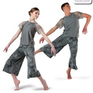 22014  Tiedye Spandex Lyrical Contemporary Dance Costume