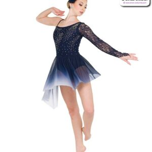 22018Y  Rhinestoned Ombre Lyrical Contemporary Dance Costume