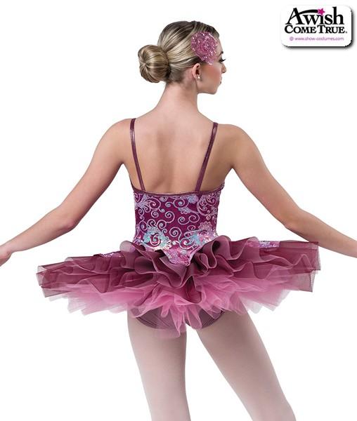 2 2020  Sequin Swirl Velvet Platter Ballet Tutu Back