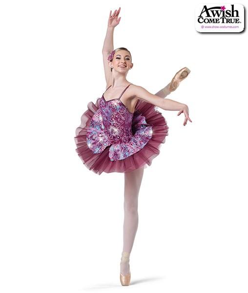 2 2020  Sequin Swirl Velvet Platter Ballet Tutu Dark Pink