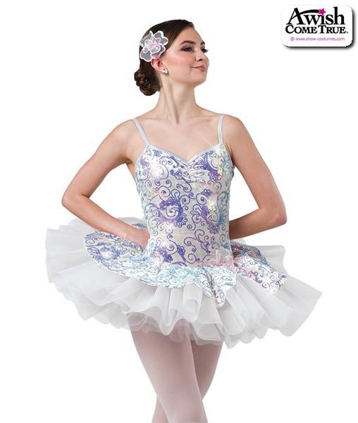2 2020  Sequin Swirl Velvet Platter Ballet Tutu Ivory
