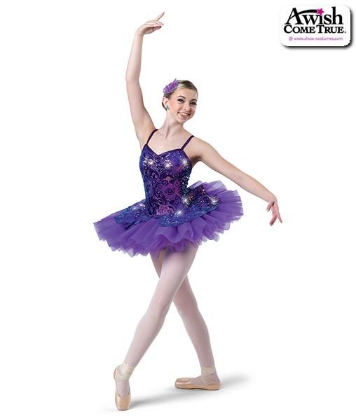 2 2020  Sequin Swirl Velvet Platter Ballet Tutu Purple
