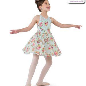 22022  Floral Chiffon Kids Lyrical Dance Dress