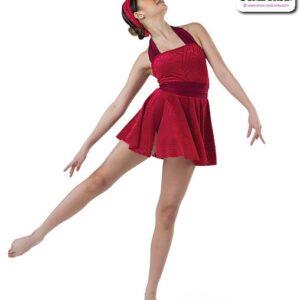 22023  Geometric Burnt Out Velvet Lyrical Contemporary Dance Dress