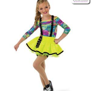 22028  Spatter Foil Graphic Print Kids Hip Hop Performance Costume