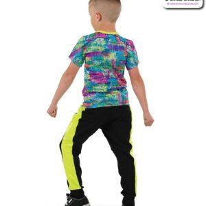 22029  Splatter Foil Graphic Print Performance Hip Hop Boys Costume Back