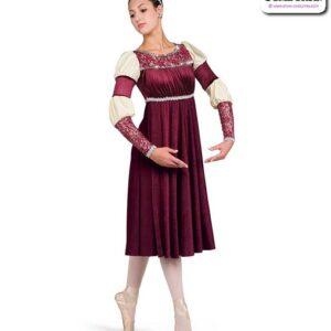 22036  Shimmer Velvet Glossy Spandex Performance Ballet Dress