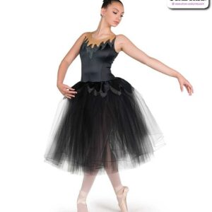 22038  Stretch Satin Glitter Knit Romantic Ballet Tutu