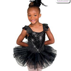 22039  Swan Lake Kids Performance Ballet Tutu Black