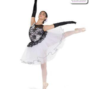 22042  Floral Lace Spandex Ballet Tutu