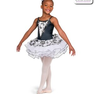 22044  Embroidered Floral Kids Performance Ballet Tutu