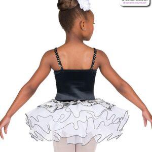 22044  Embroidered Floral Kids Performance Ballet Tutu Back