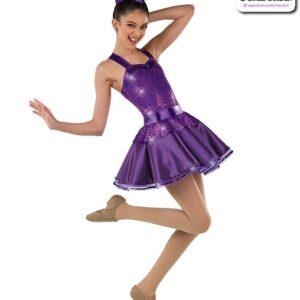 22046  Stretch Satin Elite Sequin Jazz Dance Dress
