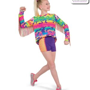 22047  Neon Camo Print Hip Hop Performance Costume