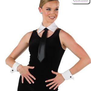 22065 A  Sapndex Faux Cuffs Tie Collar Dance Costume Accessory