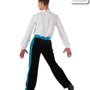 22066  Velvet Long Sleeve Guy Dance Unitard Back