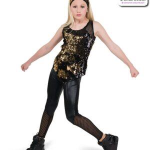 22068  Flip Sequin Sapndex Hip Hop Performance Costume
