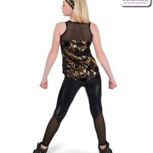 22068  Flip Sequin Sapndex Hip Hop Performance Costume Back