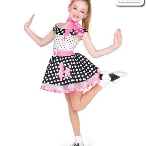 22070  Fifties Polka Dot Character Dance Costume