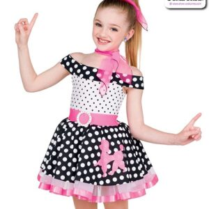 22070  Fifties Polka Dot Character Dance Costume A
