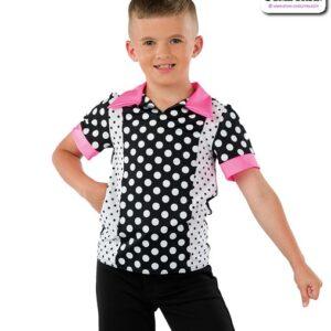 22071  Fifties Character Polka Dance Top