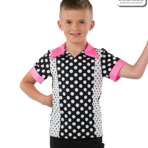 22071  Fifties Character Polka Dance Top A