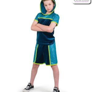 22073  Sequin Hooded Performance Hip Hop Guy Costume