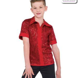 22075  Wavy Sequin Guy Dance Top