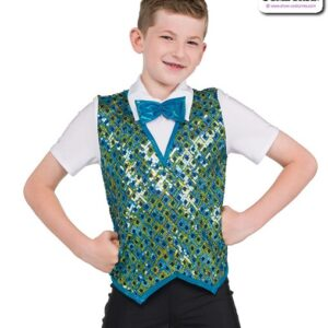 22076  Square Pattern Sequin Guy Dance Top
