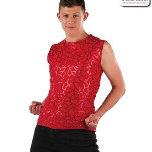 22077  Pattern Sequin Guy Dance Tank