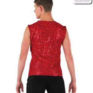 22077  Pattern Sequin Guy Dance Tank Back
