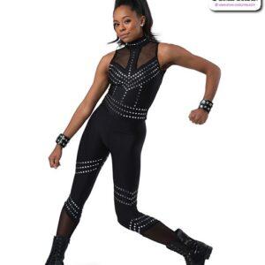 22917  Studded Spandex Hip Hop Performance Unitard