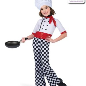 22927  Foil Lycra Checkered Chef Character Dance Costume
