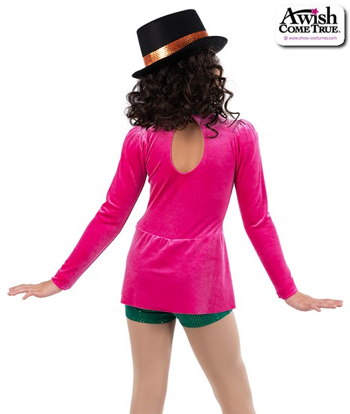 22928  Mad Hatter Character Dance Costume Back