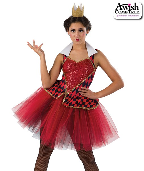 22930  The Red Queen Alice In Wonderland Character Dance Costume A