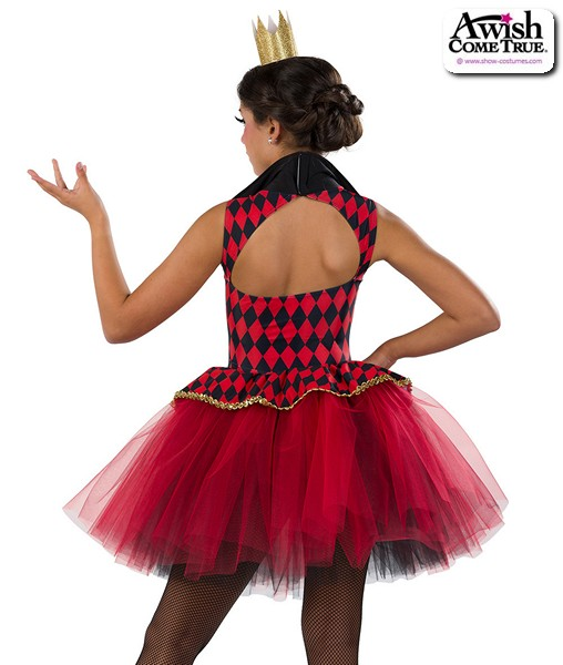 22930  The Red Queen Alice In Wonderland Character Dance Costume Back