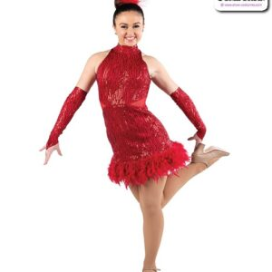 22933  Wavy Sequin Jazz Tap Dance Dress