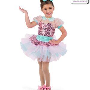 22934  Small Paillette Sequin Kids Tap Dance Costume